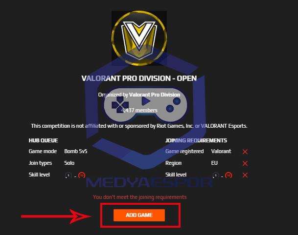 Valorant Pro Division hesap bağlama