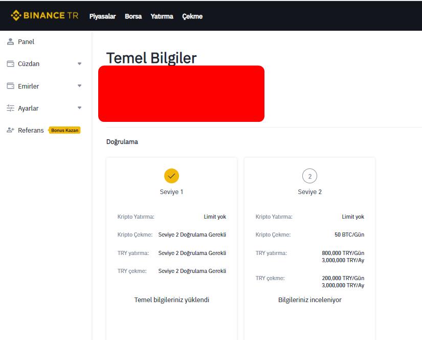 Binance Türkiye Kimlik Doğrulama İşlemi